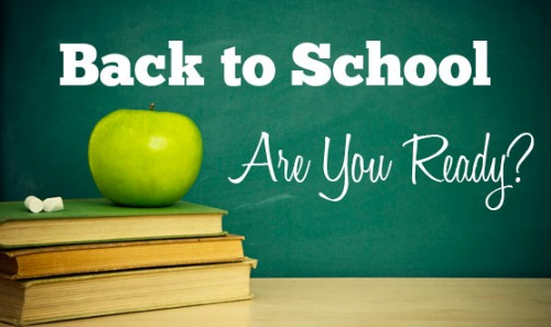 Back to School- what's your plan?